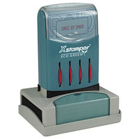 Xstamper 66210 VersaDater 2 1/8 inch x 1 5/16 inch Blue/Red Pre-Inked Date and PAID Message Stamp