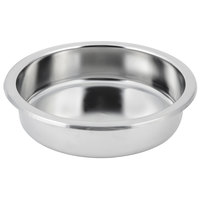 Bon Chef 12021 3 Qt. Small Rounded Stainless Steel Food Pan - 2 1/2 inch Deep
