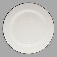 Tablecraft 80019 Enamelware 10 inch Black and White Plate
