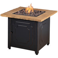 Endless Summer 30 inch Square LP Gas Outdoor Fire Pit Table with Faux Stone Top - 30,000 BTU