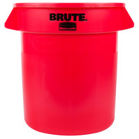 Rubbermaid BRUTE FG261000RED Red 10 Gallon Trash Can