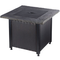 Endless Summer 30 inch Square LP Gas Outdoor Fire Pit Table with Cement Top - 50,000 BTU