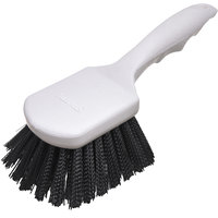 Carlisle 4054103 Sparta Spectrum 8 inch Black General Clean Up / Pot Scrub Brush