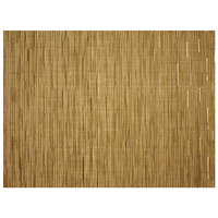 H. Risch, Inc. GA-7004 16 inch x 12 inch Gold Woven Vinyl Rectangle Placemat - 12/Pack