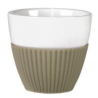 Viva Scandinavia VS25421 Anytime 7.75 oz. Teacup with Khaki Silicone Sleeve - 12/Case