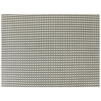 H. Risch, Inc. GA-3006 16 inch x 12 inch Dove Gray Woven Vinyl Rectangle Placemat - 12/Pack