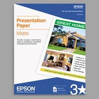 Epson S041069L 8 1/2 inch x 11 inch Matte Presentation 27# Paper- 100 Sheets
