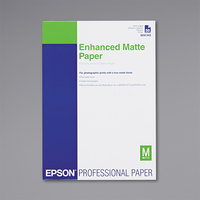 Epson S041343 11 3/4 inch x 16 1/2 inch White Ultra Premium Matte Presentation Paper - 50 Sheets