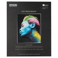Epson S042331 Hot Press 17 inch x 22 inch Bright White Fine Art Paper - 25 Sheets