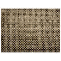 H. Risch, Inc. GA-2015 16 inch x 12 inch Sandstone Woven Vinyl Rectangle Placemat - 12/Pack