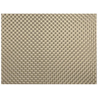 H. Risch, Inc. GA-9000 16 inch x 12 inch Champagne Woven Vinyl Rectangle Placemat - 12/Pack