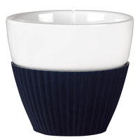 Viva Scandinavia VS25422 Anytime 7.75 oz. Teacup with Midnight Navy Blue Silicone Sleeve - 12/Case