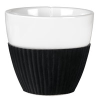 Viva Scandinavia VS25401 Anytime 7.75 oz. Teacup with Black Silicone Sleeve - 12/Case