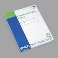 Epson S041341 8 1/2 inch x 11 inch Ultra Premium Matte Presentation 10 mil Paper - 50 Sheets