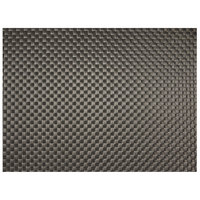 H. Risch, Inc. GA-9001 16 inch x 12 inch Iron Gray Woven Vinyl Rectangle Placemat - 12/Pack