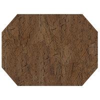 H. Risch, Inc. PLACEMATDXOCT-DRIFTWOODRUSS 16 inch x 12 inch Customizable Russet Driftwood Premium Sewn Vinyl Octagon Placemat