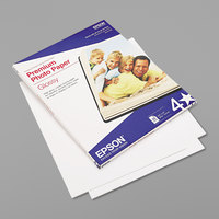 Epson S042183 8 1/2 inch x 11 inch White Pack of 68# Premium High-Gloss Photo Paper - 25 Sheets