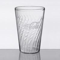 GET 2224-CC Tahiti 24 oz. Clear Coca-Cola® SAN Plastic Tumbler - 72/Case