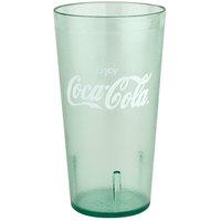 GET 6632-JC 32 oz. Jade Coca-Cola® SAN Plastic Tall Pebbled Tumbler - 72/Case