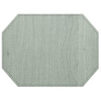 H. Risch, Inc. Sherwood 12 inch x 16 inch Customizable Seafoam Premium Sewn Octagon Placemat
