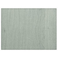 H. Risch, Inc. Sherwood 12 inch x 16 inch Customizable Seafoam Premium Sewn Rectangle Placemat