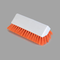 Carlisle 4042324 Sparta Spectrum 10 inch Hi-Lo Orange Floor Scrub Brush