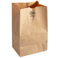Duro Bulwark Extra Heavy-Duty 20 lb. Brown Paper Bag - 400/Bundle