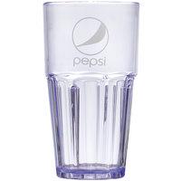 GET 9922-BP Pepsi® Bahama 24 oz. Blue SAN Plastic Tumbler - 72/Case