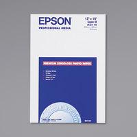 Epson S041327 13 inch x 19 inch White Premium Semi-Gloss Photo Paper   - 20/Sheets