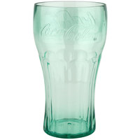 GET 1132-JC Bell 32 oz. Jade Coca-Cola® SAN Plastic Soda Glass - 72/Case