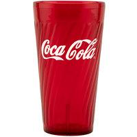 GET 2232-RC Tahiti 32 oz. Red Coca-Cola® SAN Plastic Tumbler - 72/Case