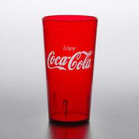 GET 6632-RC Coca-Cola® Textured 32 oz. Red SAN Plastic Tumbler - 72/Case