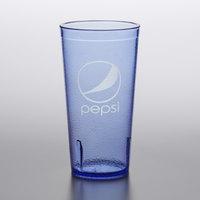 GET 6620-BP 20 oz. Blue Pepsi® SAN Plastic Pebbled Tumbler - 72/Case