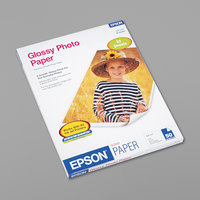 Epson S041649 8 1/2 inch x 11 inch White Pack of 52# Glossy Photo Paper - 50 Sheets