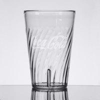 GET 2220-CC Tahiti 20 oz. Clear Coca-Cola® SAN Plastic Tumbler - 72/Case