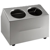 Steril-Sil CC-LTC-2 2-Compartment Insulated Stainless Steel Ice-Cooled Condiment Dispenser