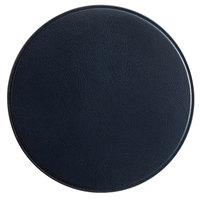 H. Risch, Inc. 3 3/4 inch Round Blue Vinyl Customizable Coaster
