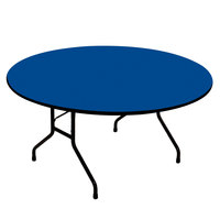Correll CF48PX-37 48 inch Round Blue High Pressure Heavy Duty Folding Table