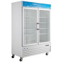 Avantco GDC-49F-HC 53 1/8 inch White Swing Glass Door Merchandiser Freezer with LED Lighting