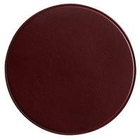 H. Risch, Inc. 3 3/4 inch Round Brown Vinyl Customizable Coaster