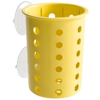 Steril-Sil PN1-YELLOW Yellow Plastic Suction Cup Silverware and Condiment Cylinder