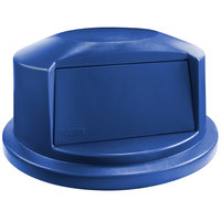 Rubbermaid 1829398 BRUTE 32 Gallon Blue Dome Top Trash Can Lid
