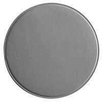 H. Risch, Inc. 3 3/4 inch Round Silver Vinyl Customizable Coaster