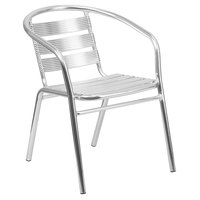 Flash Furniture TLH-1-GG 29 inch Aluminum Heavy-Duty Indoor / Outdoor Stackable Restaurant Chair