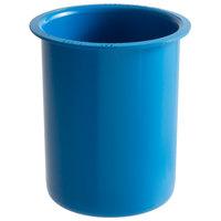 Steril-Sil PC-700-BLUE 30 oz. Blue Plastic Solid Condiment / Flatware Container