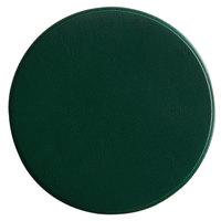 H. Risch, Inc. 3 3/4 inch Round Green Vinyl Customizable Coaster