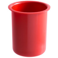Steril-Sil PC-700-RED 30 oz. Red Plastic Solid Condiment / Flatware Container