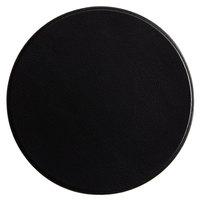 H. Risch, Inc. 3 3/4 inch Round Black Vinyl Customizable Coaster