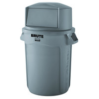 Rubbermaid BRUTE 44 Gallon Gray Trash Can and Dome Top Lid