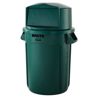 Rubbermaid BRUTE 32 Gallon Green Trash Can and Dome Top Lid